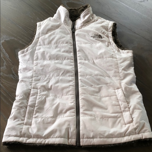 The North Face Jackets & Blazers - White The North Face Reversible Vest Excellent Sm